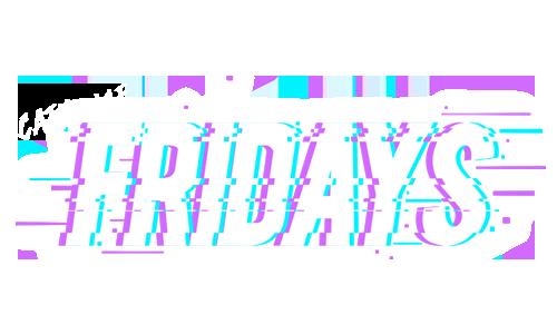 Logo with text: Cathouse Fridays