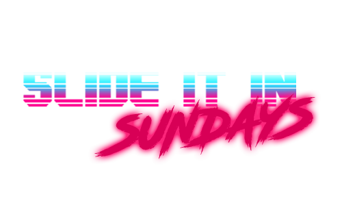 Logo with text: Slide It In Sundays